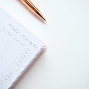 Calendar Book with pen